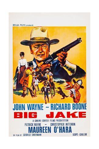 Big Jake, Top: John Wayne on French Poster Art, 1971 Giclee Print