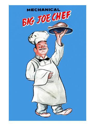 Big Joe Chef Stretched Canvas Print