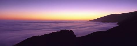Big Sur at Dusk, Marine Layer, Big Sur, California, USA ...