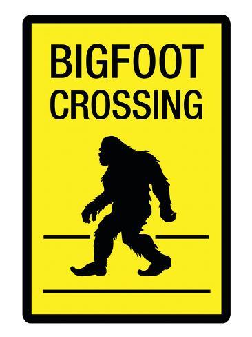 オールポスターズの bigfoot crossing sign art poster print ポスター