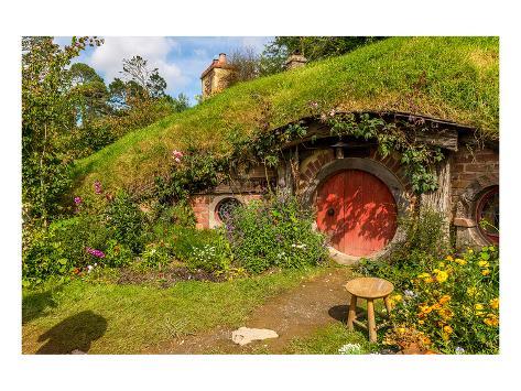 Bilbo's Village New Zealand Art Print
