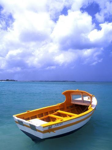 Close-up of Fishing Boat, Aruba Photographic Print