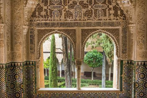 granada spain alhambra close up of architecture in nasrid palace