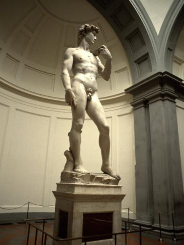 Michelangelo's Sculpture of David, Florence, Italy Photographic Print