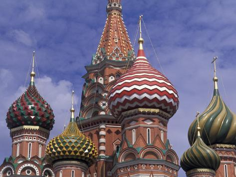 Onions of St. Basil's Cathedral, Red Square, Moscow, Russia Photographic Print