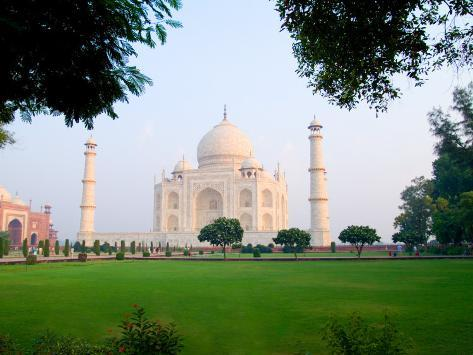 Taj Mahal at Sunrise, Agra, India Photographic Print