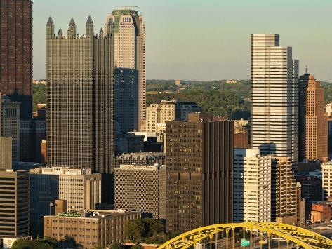 Taken from Mt. Washington, Skyline and the Three Rivers, Pittsburgh, Pennsylvania, Usa Photographic Print