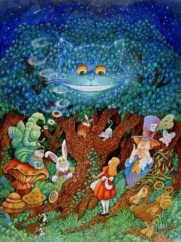 Alice and the Cheshire Cat Giclee Print