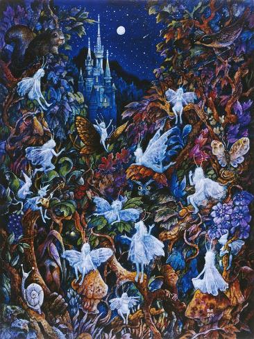 Blue Fairies Giclee Print