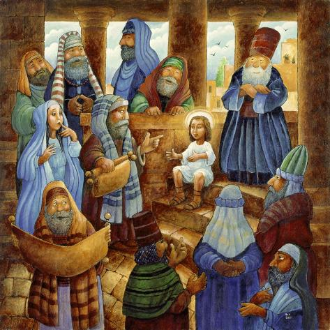 JC in Temple Giclee Print
