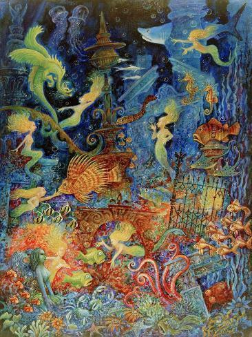 Mermaids of Atlantis Giclee Print