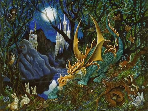 Moon Dragon Giclee Print