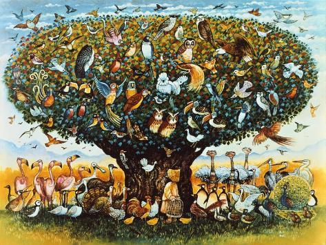 Noah and the Birds Giclee Print