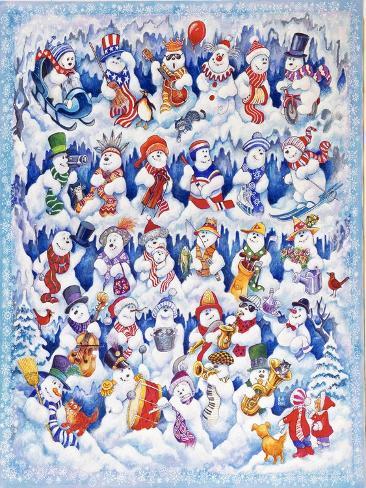 Snowfolks Giclee Print