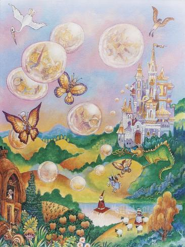 The Bubble Fairies Giclee Print