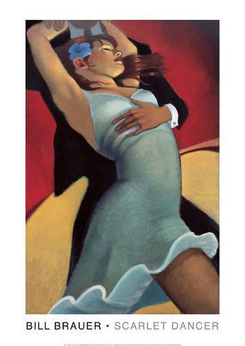 Scarlet Dancer Art Print