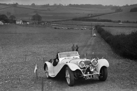 Jaguar SS100 at the Standard Car Owners Club Southern Counties Trial