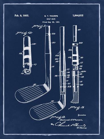 Golf Club, 1931-Blue II Stretched Canvas Print