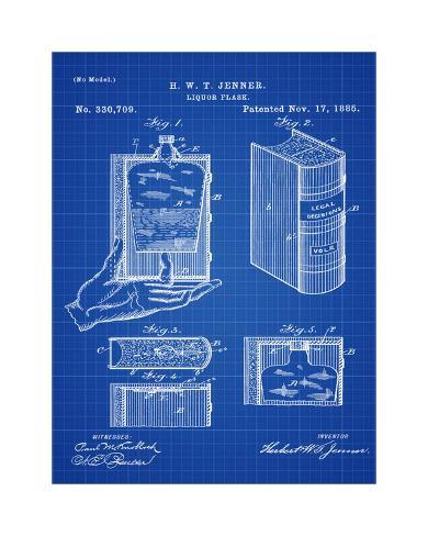 Hidden flask blueprint giclee print by bill cannon allposters hidden flask blueprint malvernweather Choice Image