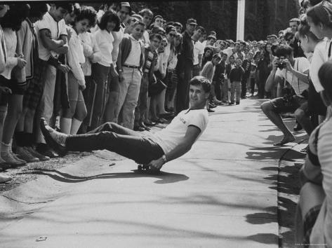 1st Intercollegiate Skateboarding Championship at Wesleyan University Photographic Print