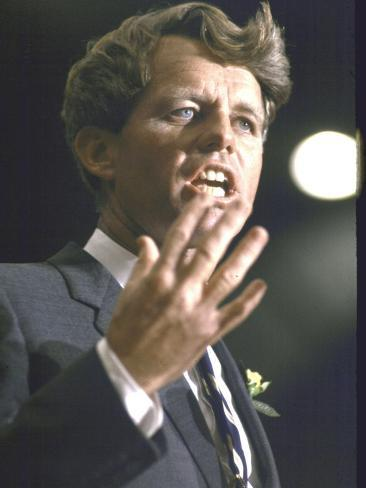 Senator Robert F. Kennedy Campaigning for Local Democratics in New York State Photographic Print