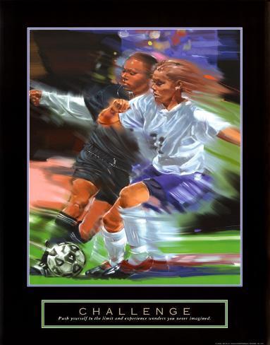 Challenge: Soccer Art Print