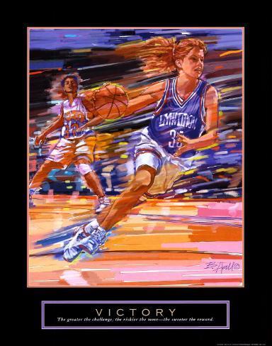 Victory: Basketball Art Print
