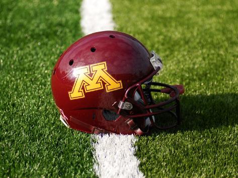 University of Minnesota - Minnesota Football Helmet Photo
