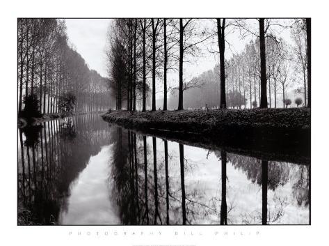 Canal, Normandy, France Framed Art Print