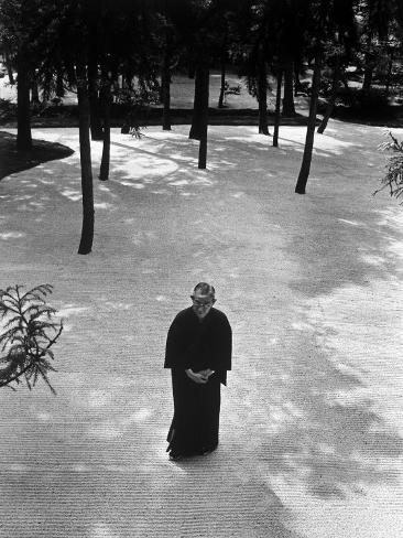 Japan's Greatest Industrialist/Philosopher Konosuke Matsushita, Walking in Philosophical Institute Premium Photographic Print