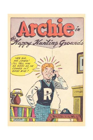 Archie Comics Retro: Archie Comic Panel Happy Hunting Grounds (Aged) Poster