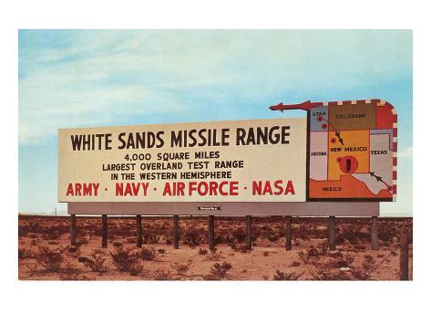 Billboard, White Sands Missile Range, New Mexico Art Print