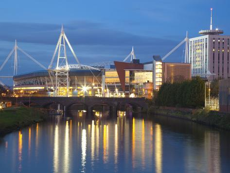 Millennium Stadium, Cardiff, South Wales, Wales, United Kingdom, Europe Photographic Print