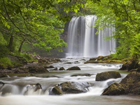 Sgwd yr Eira Waterfall, Brecon Beacons, Wales, United Kingdom, Europe Photographic Print