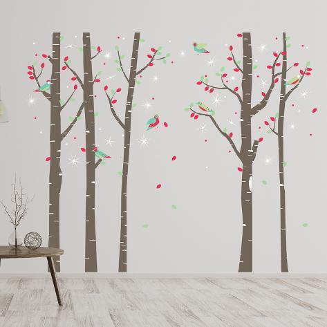 Birch Tree Forest Adesivo de parede