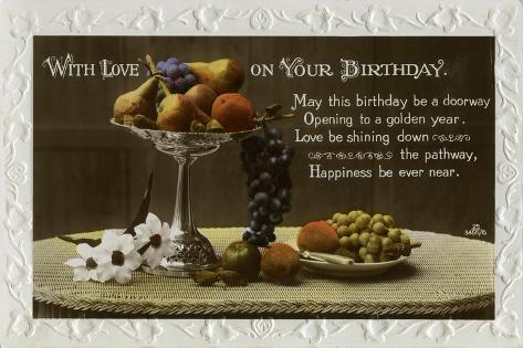 Birthday Card, C1931 Giclée-vedos