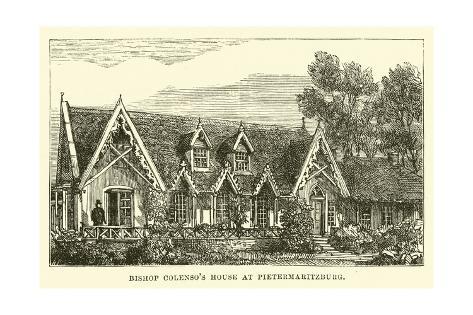 Bishop Colenso's House at Pietermaritzburg Lámina giclée