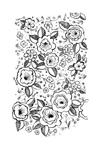 Black and white flowers and flower buds art at allposters mightylinksfo