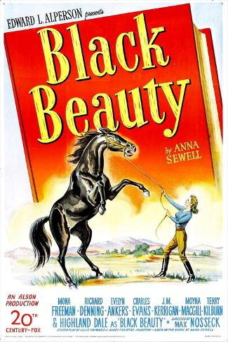 Black Beauty, Mona Freeman, 1946 Impressão artística