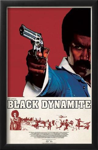 Black Dynamite Impressão artística emoldurada