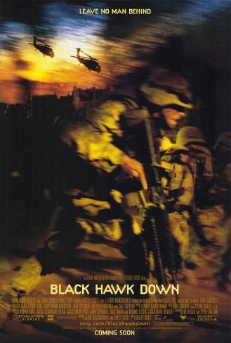 Black Hawk Down Stretched Canvas Print