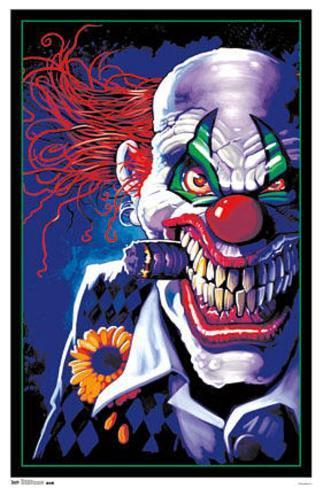 Black Light - Stogie Clown Fantasy Blacklight Poster Blacklight Poster
