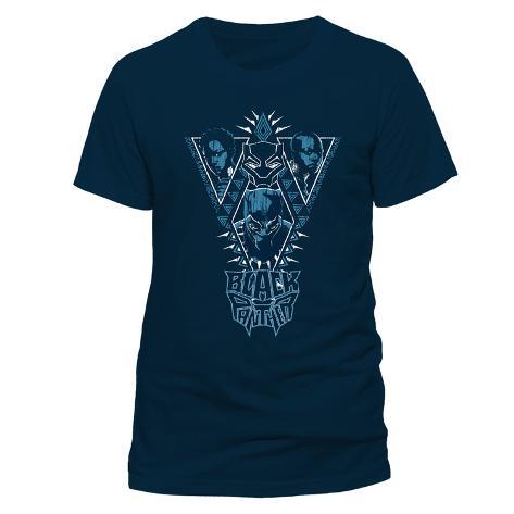 Black Panther - Navy Cast T-Shirt