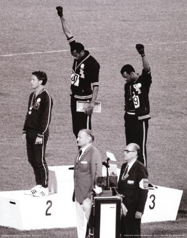 Black power tommie smith john carlos olympics 1968 photo print poster