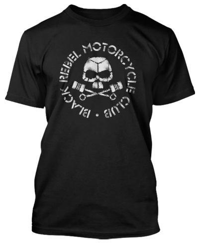 Black Rebel Motorcycle Club - Classic Skull & Pistons (Slim Fit) T-Shirt