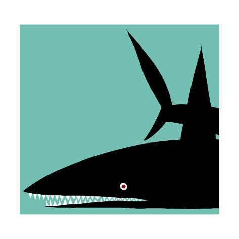 Black Shark Art Print