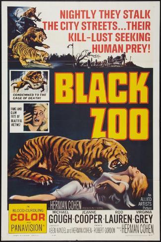 Black Zoo, poster art, 1963 Art Print
