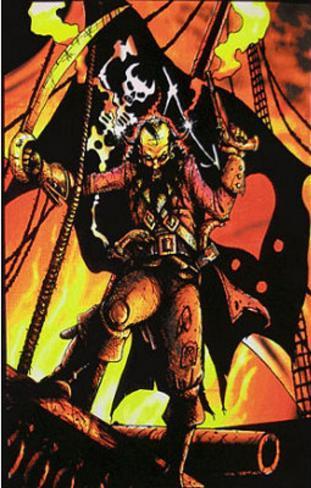 Blackbeard the Pirate Flocked Blacklight Poster Art Print Blacklight Poster