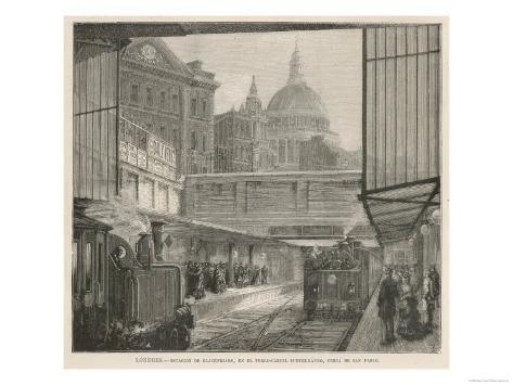 Blackfriars Station Lámina giclée