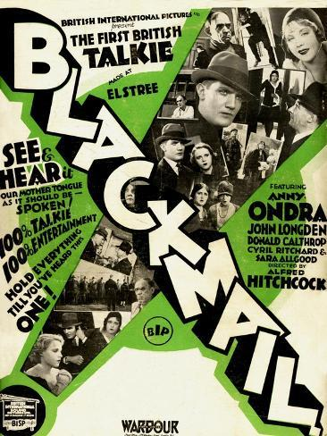 Blackmail, 1929, 1929, Directed by Alfred Hitchcock Giclee Print